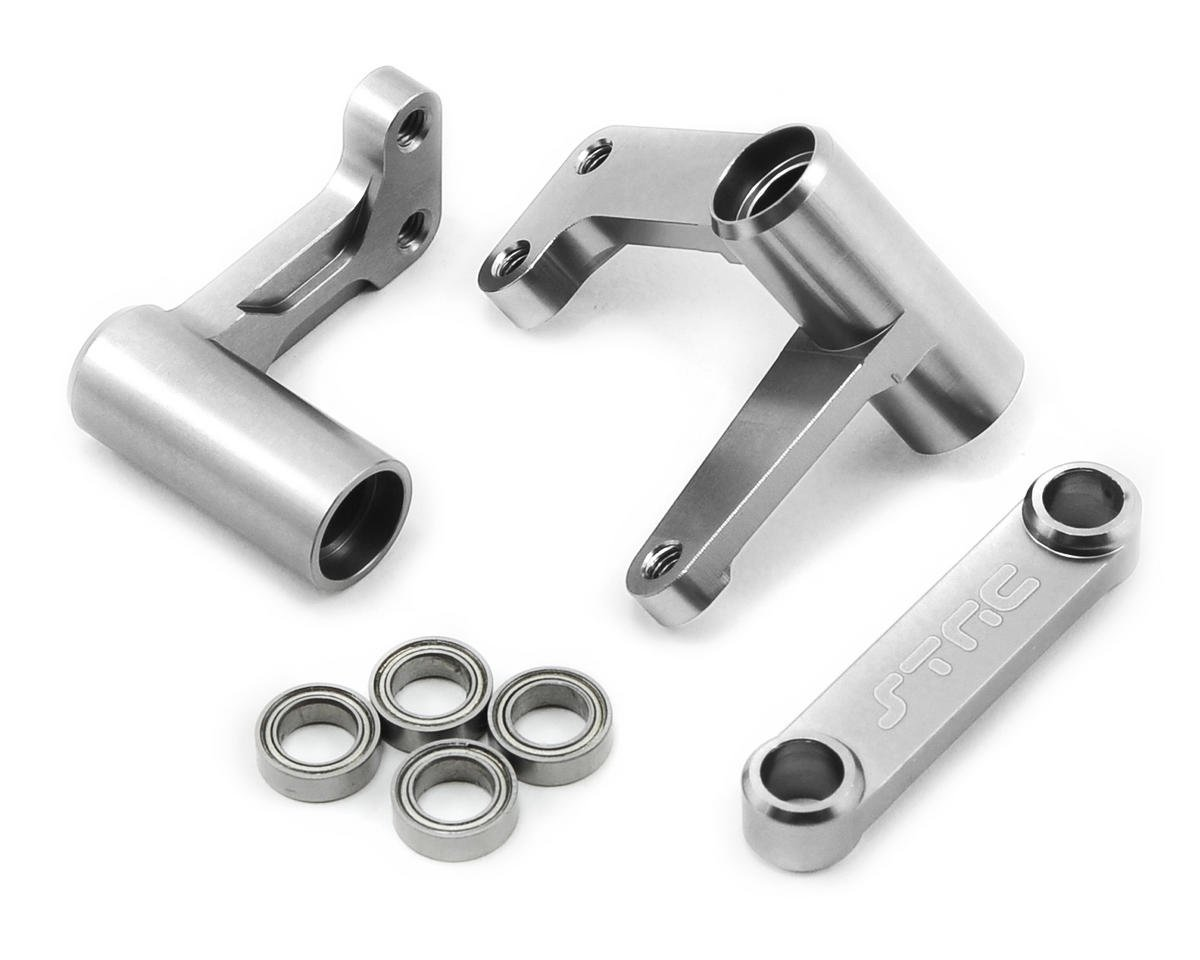 Aluminum Steering Bellcrank Set (w/bearings) (Silver) by ST Racing Concepts