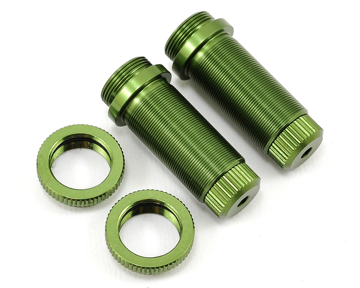 Aluminum Threaded Front Shock Body Set (Green) (2) (Slash) by ST Racing Concepts
