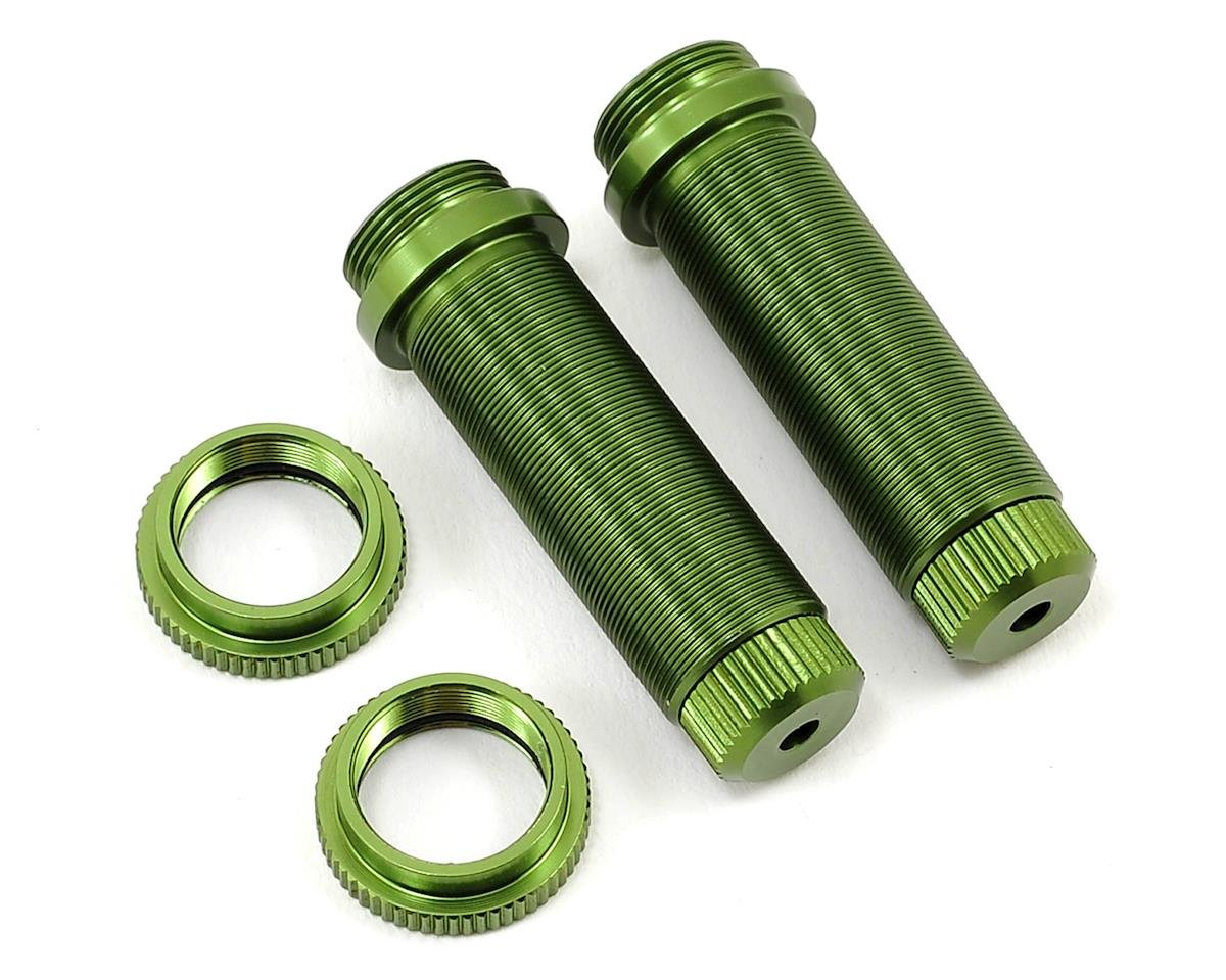 ST Racing Concepts Aluminum Threaded Rear Shock Body Set (Green) (2) (Slash)