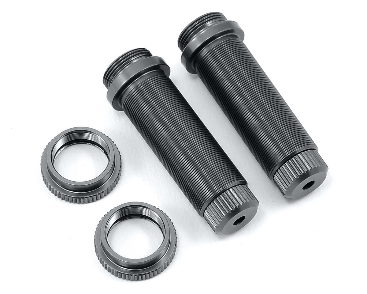 ST Racing Concepts Aluminum Threaded Rear Shock Body Set (Gun Metal) (2) (Slash)