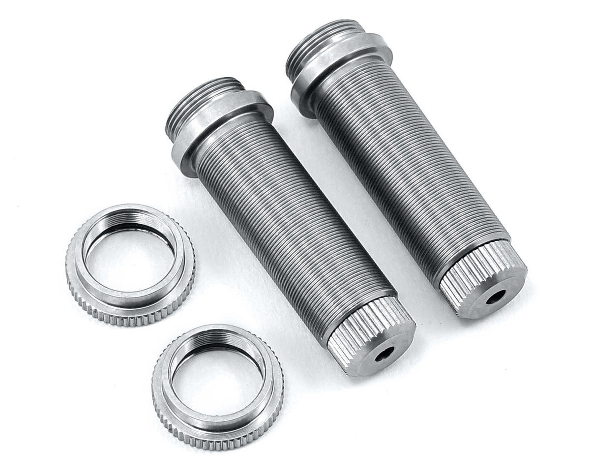 ST Racing Concepts Aluminum Threaded Rear Shock Body Set (Silver) (2) (Slash)