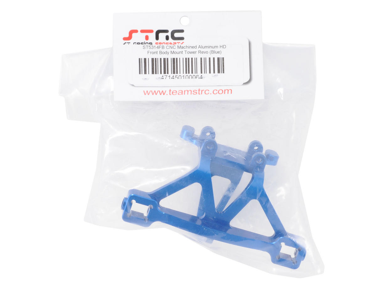 ST Racing Concepts Aluminum Front Body Post/Bumper Mount (Blue)