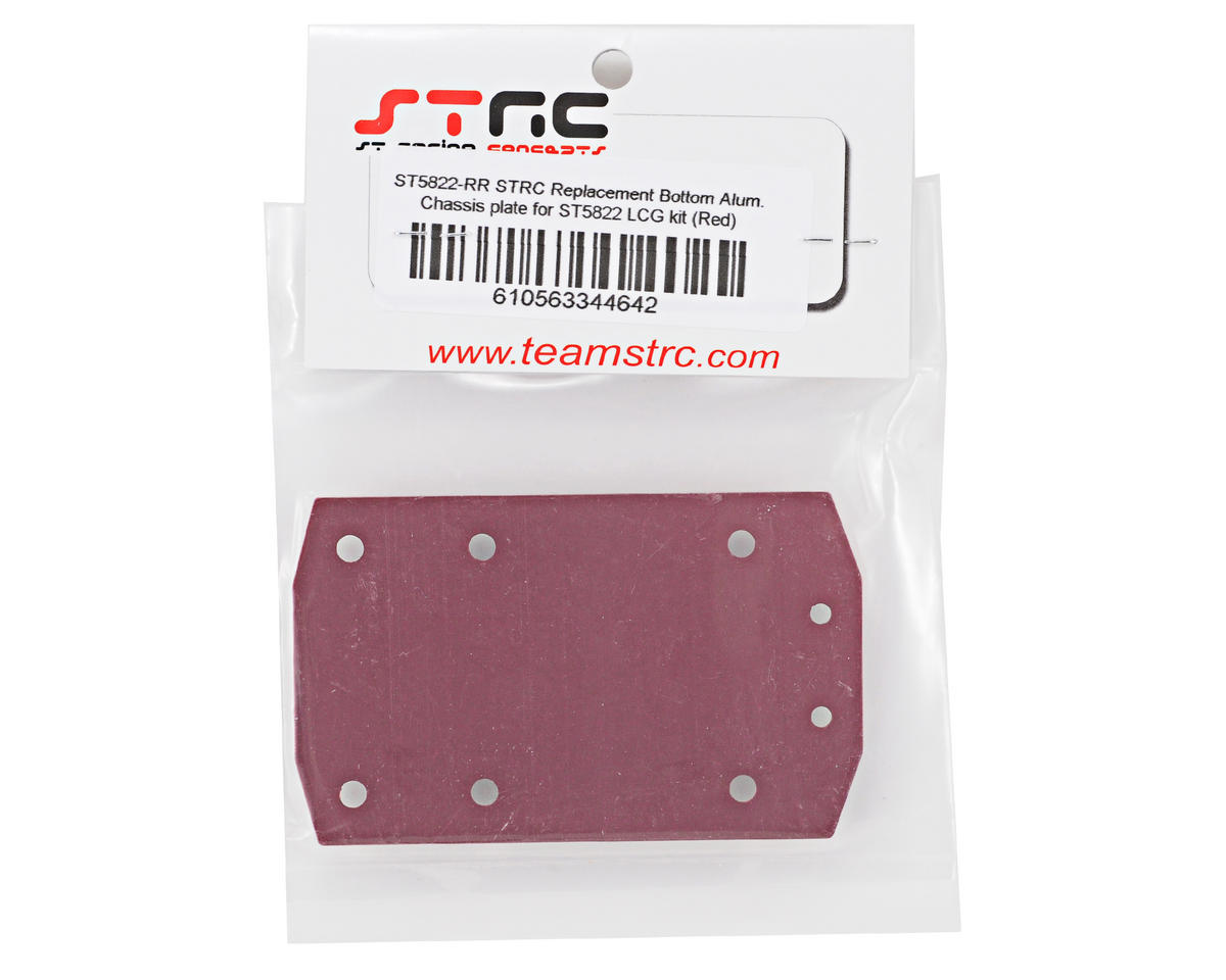 ST Racing Concepts Aluminum Bottom Chassis Plate (Red)