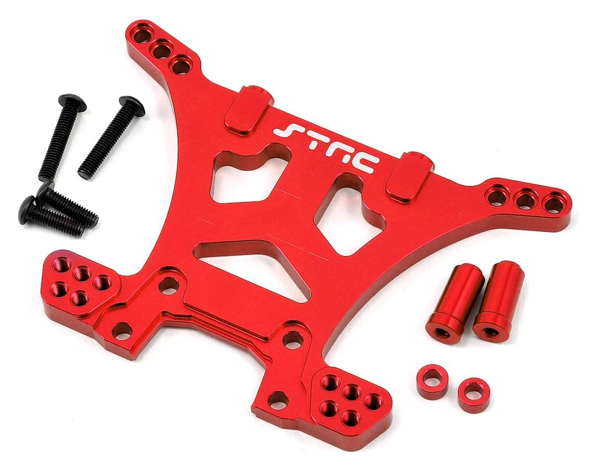 Aluminum HD Rear Shock Tower (Red) (Slash 4x4) by ST Racing Concepts