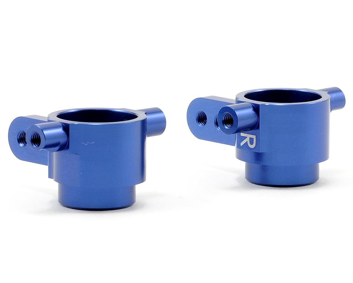 Aluminum Front Steering Knuckles (Blue) (Slash 4x4) by ST Racing Concepts