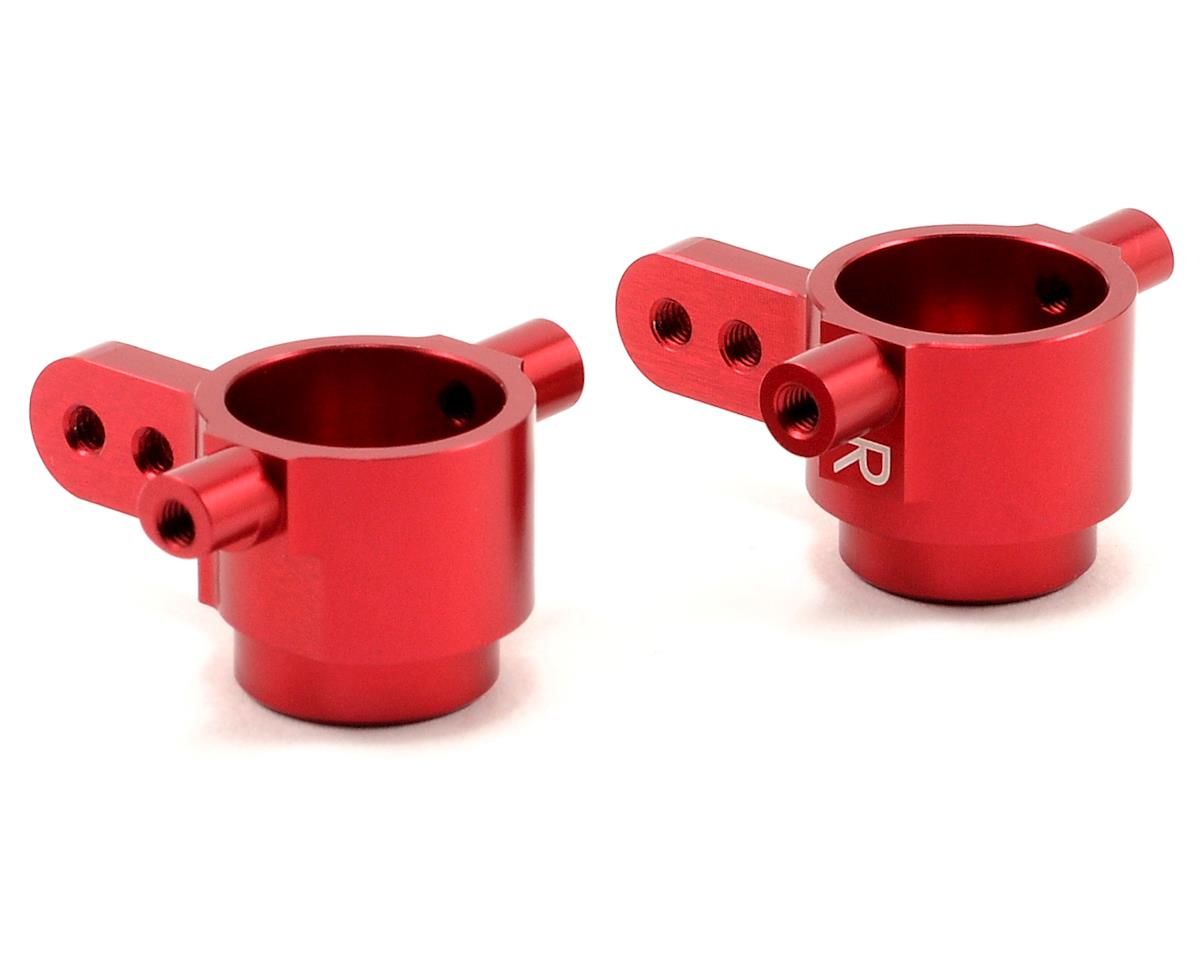 Aluminum Front Steering Knuckles (Red) (Slash 4x4) by ST Racing Concepts