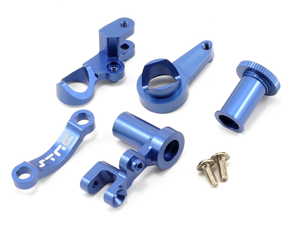 ST Racing Concepts HD Aluminum Steering Bellcrank Set (Blue) (Slash 4x4)