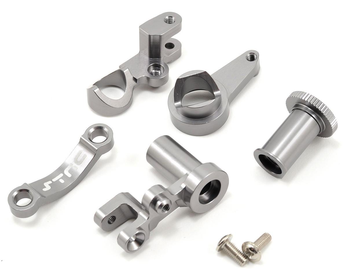ST Racing Concepts HD Aluminum Steering Bellcrank Set (Gun Metal) (Slash 4x4)
