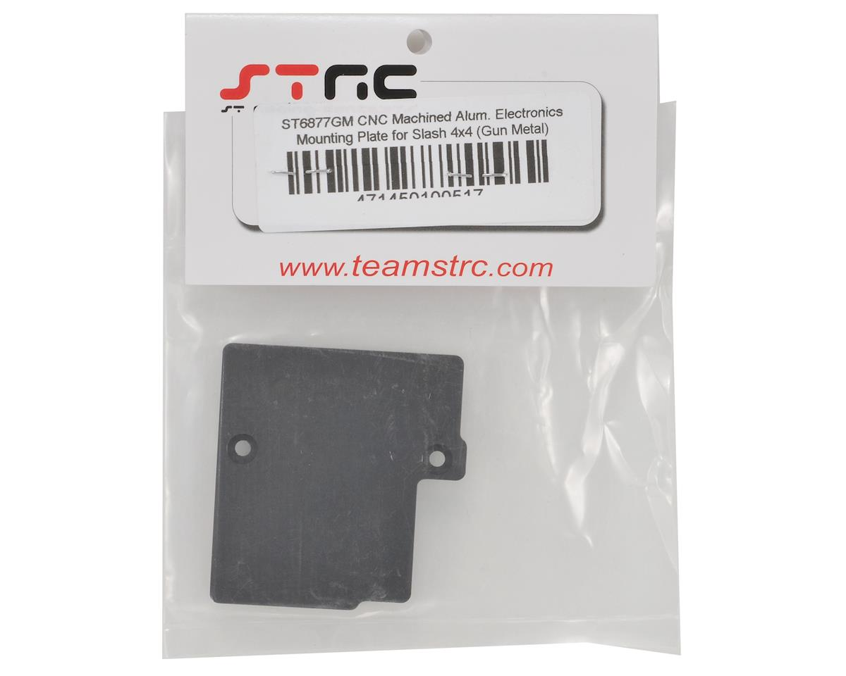 Aluminum Electronics Mounting Plate (Gun Metal) by ST Racing Concepts