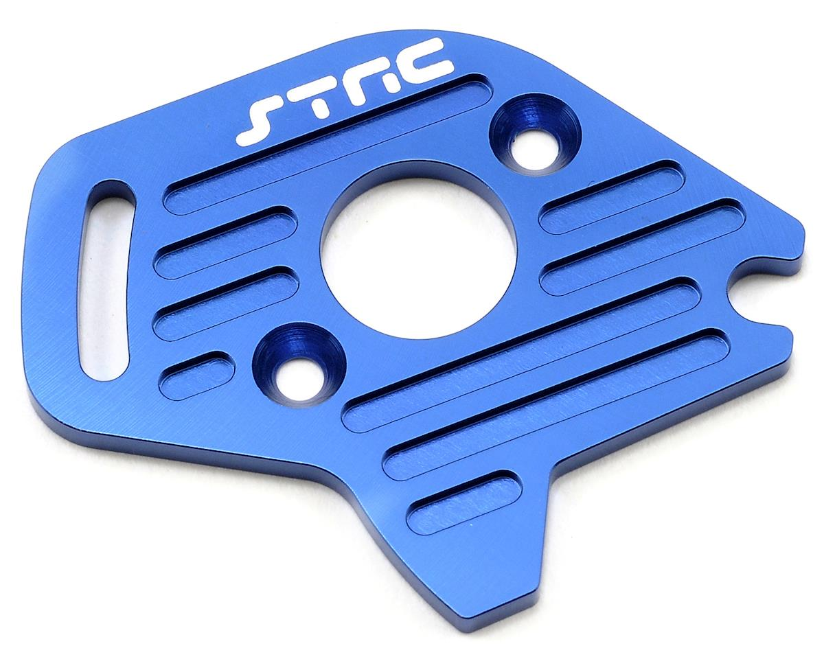 Aluminum Heatsink Motor Plate (Blue) (Slash 4x4) by ST Racing Concepts