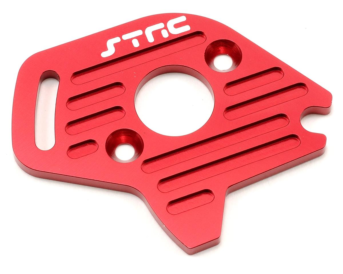Aluminum Heatsink Motor Plate (Red) (Slash 4x4) by ST Racing Concepts