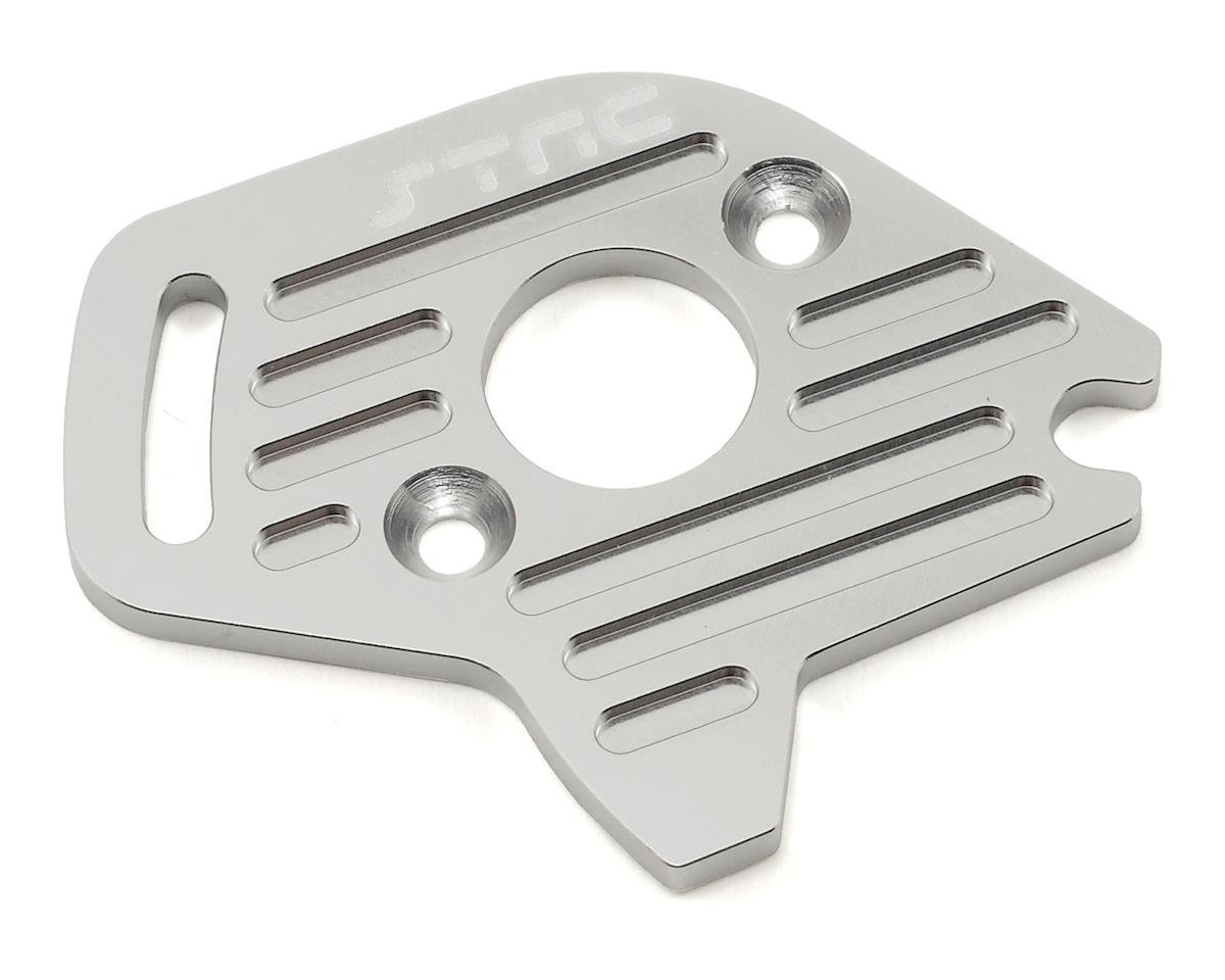 Aluminum Heatsink Motor Plate (Silver) (Slash 4x4) by ST Racing Concepts