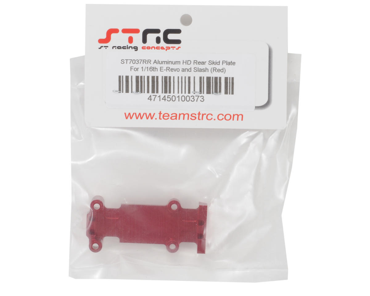 ST Racing Concepts Aluminum Rear Heavy Duty Skid Plate (Red)