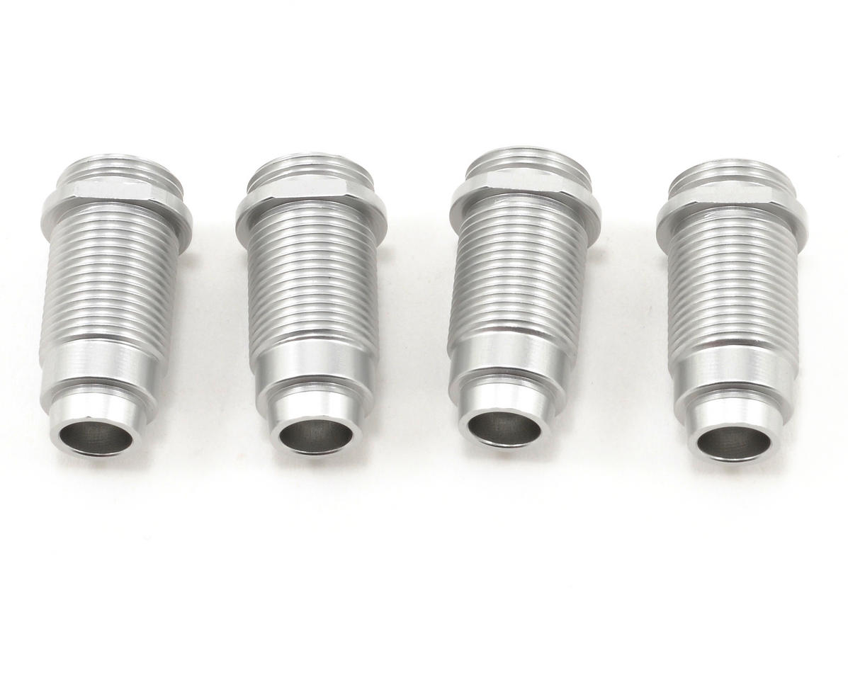 Aluminum Threaded Shock Bodies (Silver) (4) by ST Racing Concepts