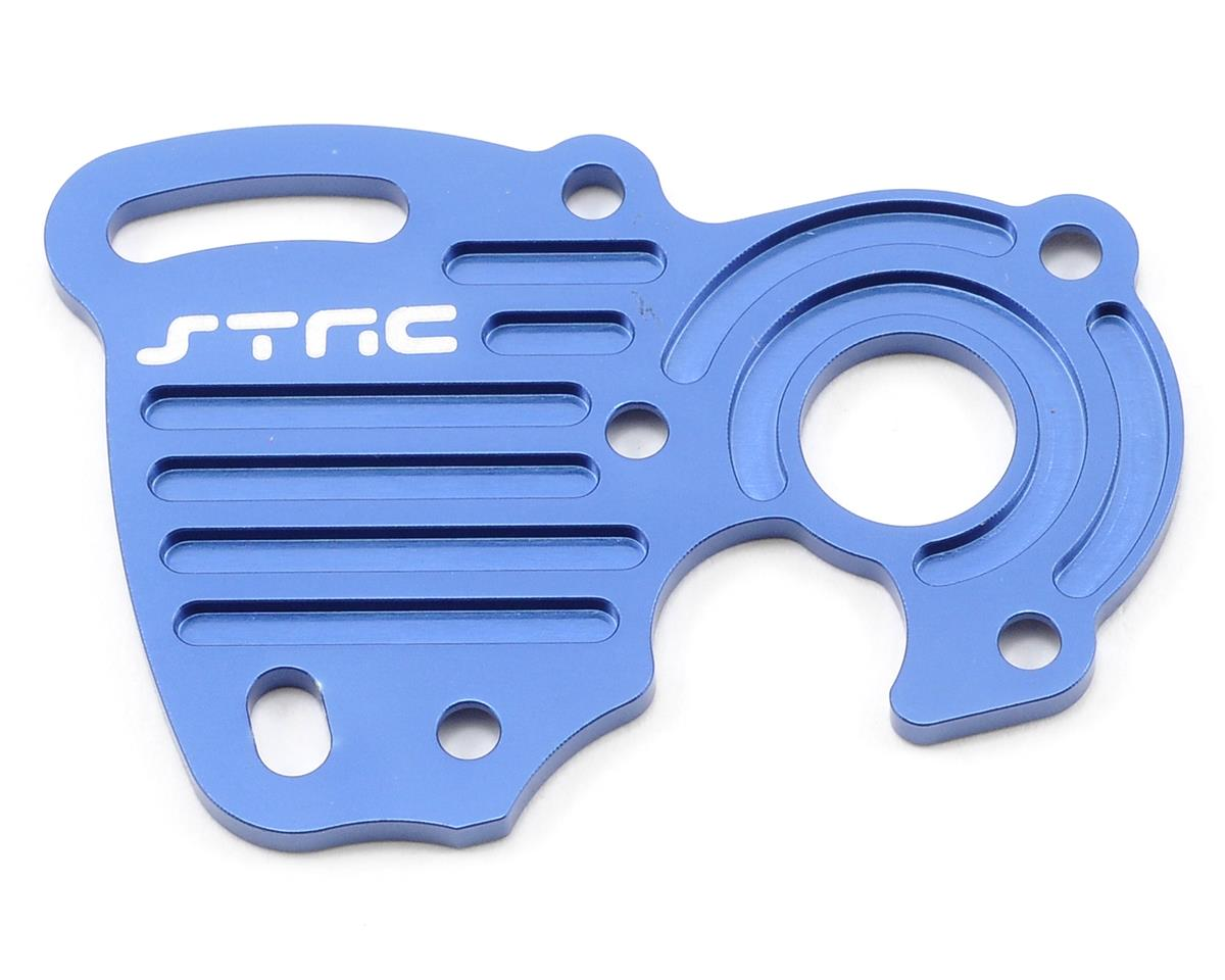 ST Racing Concepts Aluminum Finned Heat Sink Motor Plate (Blue)