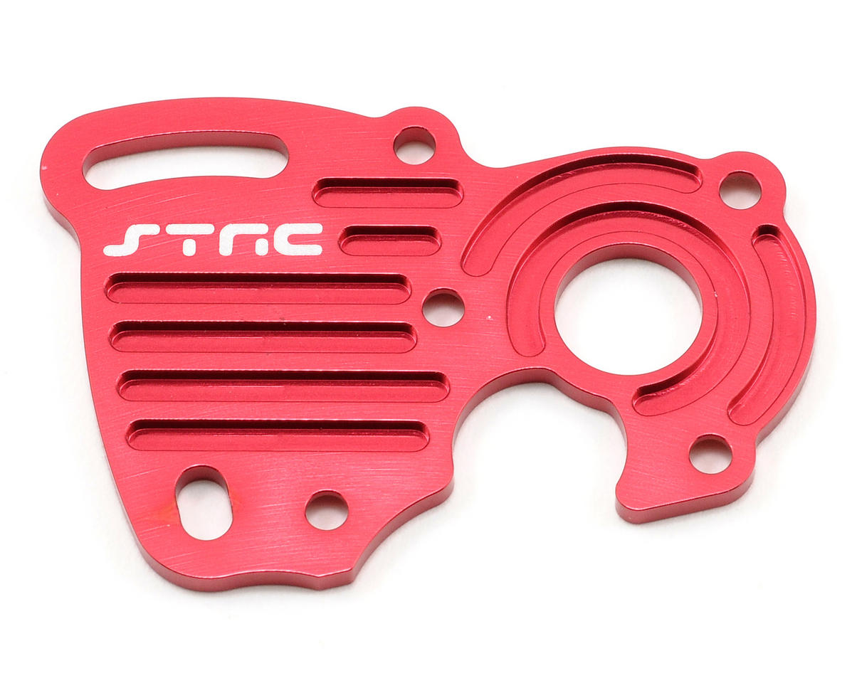 ST Racing Concepts Aluminum Finned Heat Sink Motor Plate (Red) (Traxxas 1/16 Slash)