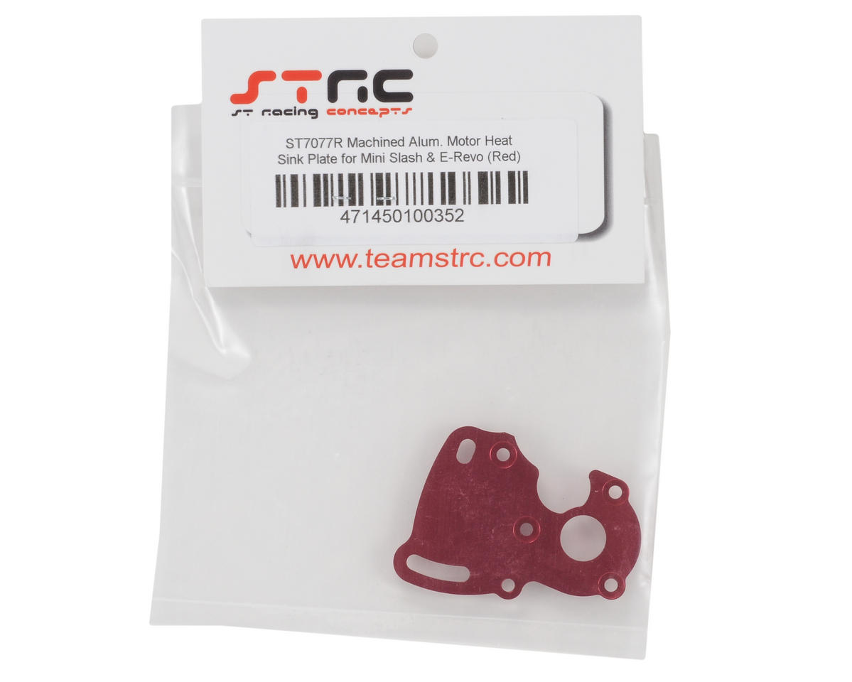 ST Racing Concepts Aluminum Finned Heat Sink Motor Plate (Red)