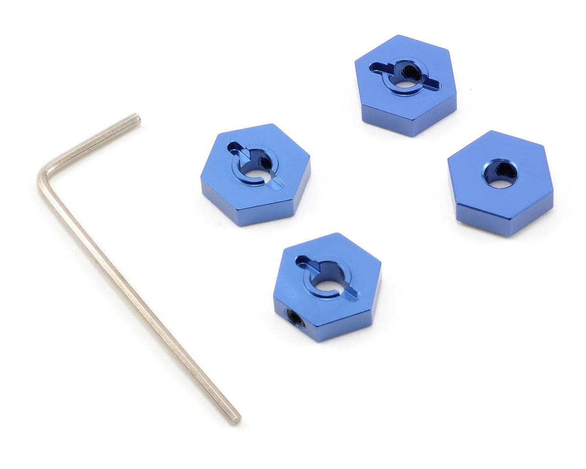 ST Racing Concepts Aluminum Hex Adapters (Blue) (4)