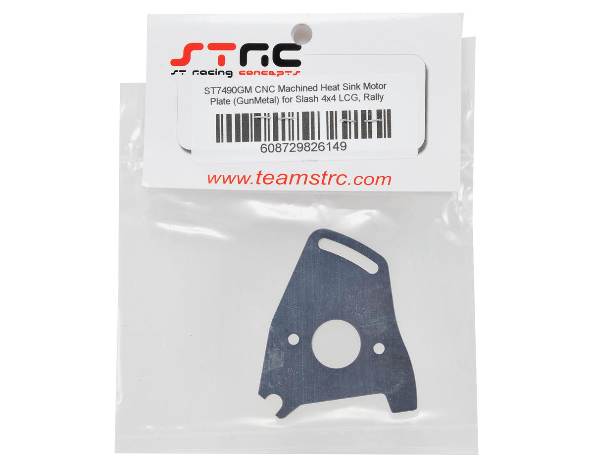 ST Racing Concepts Heat Sink Motor Plate (Gun Metal)