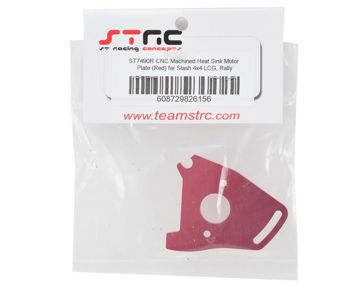 Heat Sink Motor Plate (Red) by ST Racing Concepts