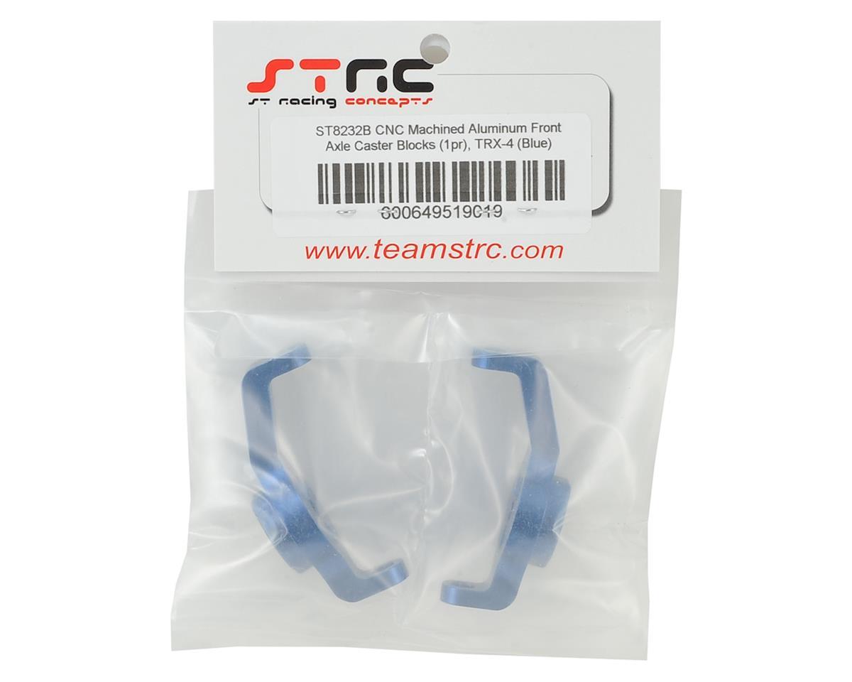 ST Racing Concepts Aluminum TRX-4 Front Axle Caster Block Set (Blue)