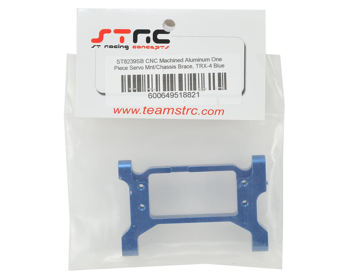 ST Racing Concepts Traxxas TRX-4 One-Piece Servo Mount/Chassis Brace (Blue)