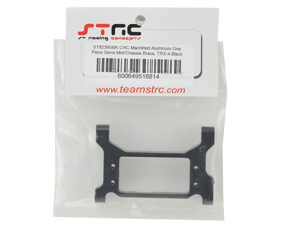 ST Racing Concepts Traxxas TRX-4 One-Piece Servo Mount/Chassis Brace (Black)