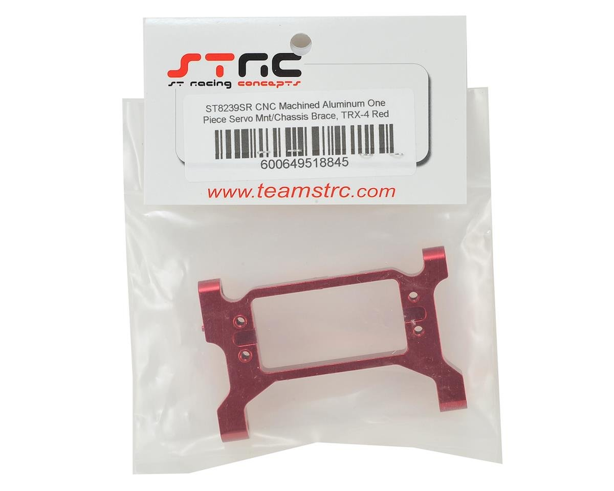 ST Racing Concepts Traxxas TRX-4 One-Piece Servo Mount/Chassis Brace (Red)