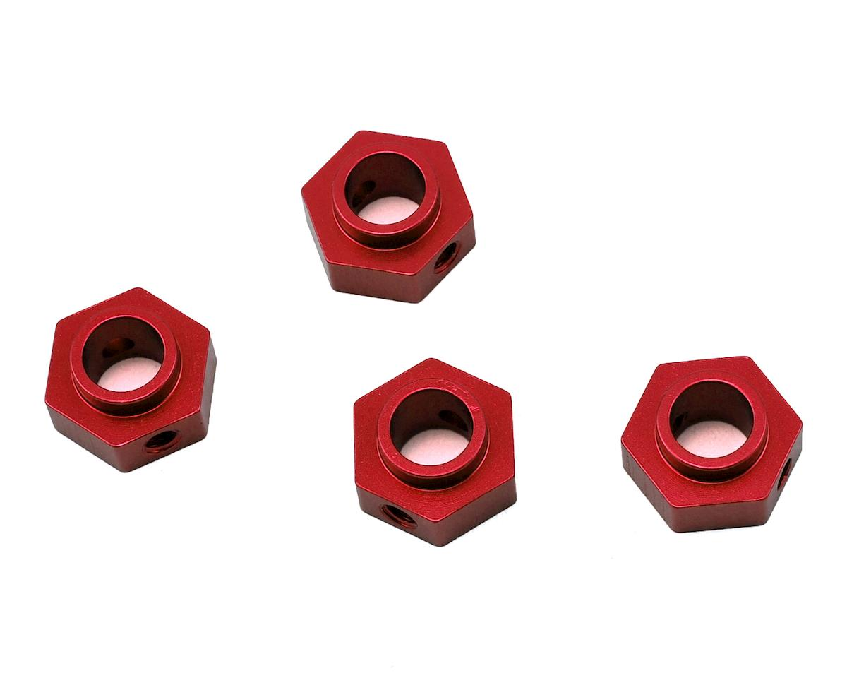 Traxxas TRX-4 Aluminum Wheel Hex Adapters (4) (Red) by ST Racing Concepts