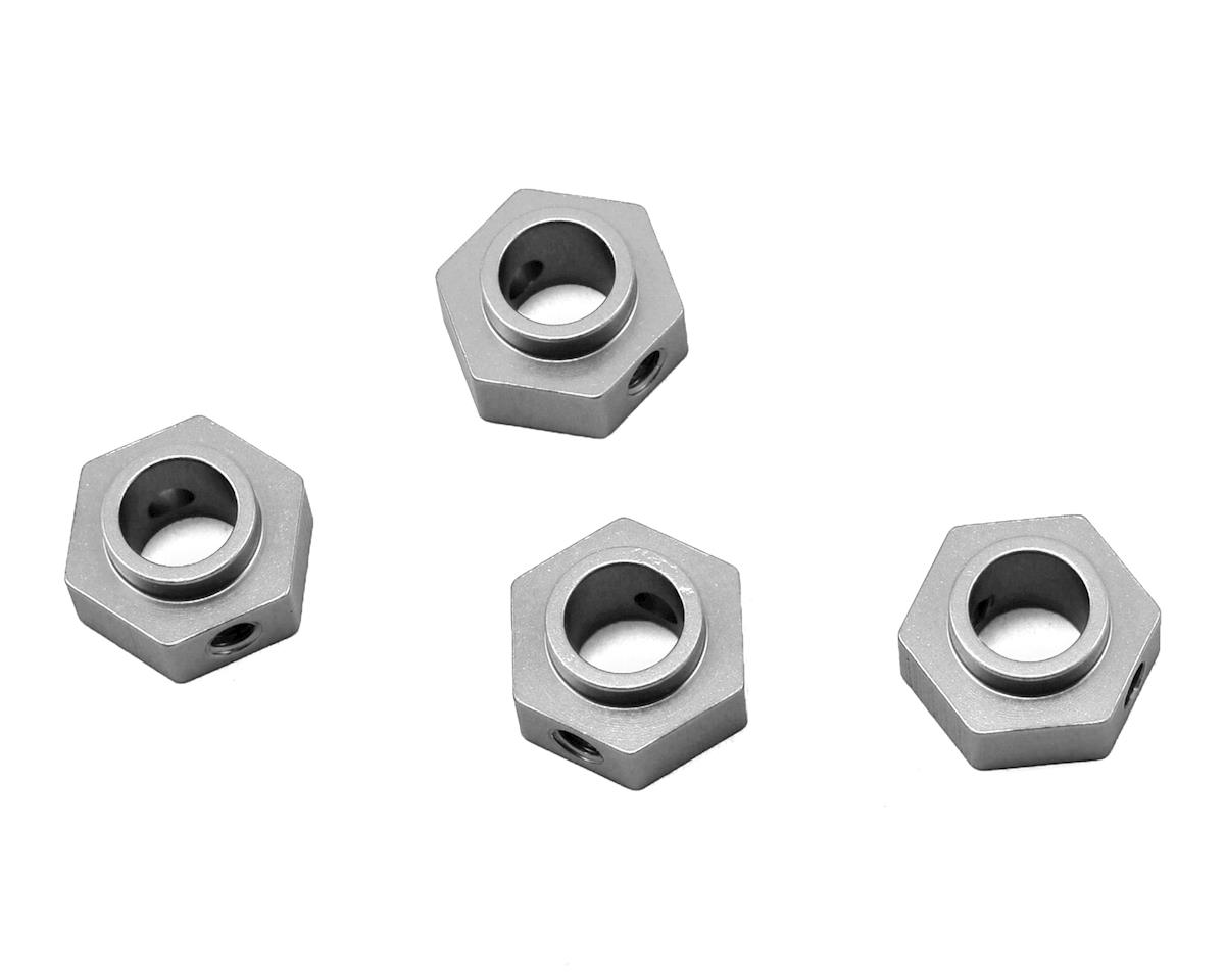 Traxxas TRX-4 Aluminum Wheel Hex Adapters (4) (Silver) by ST Racing Concepts