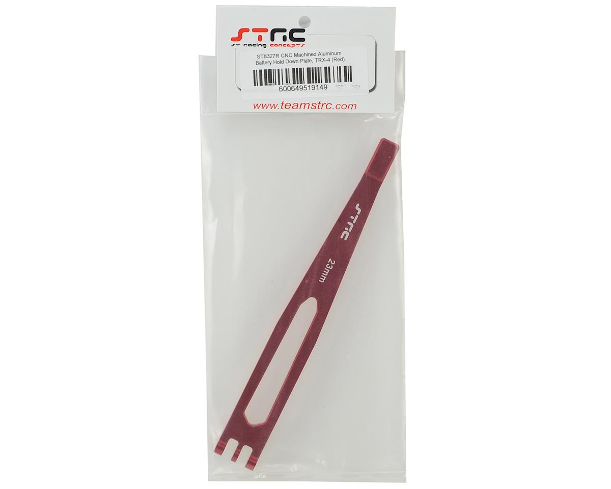 ST Racing Concepts Aluminum TRX-4 Battery Hold Down Plate (Red)