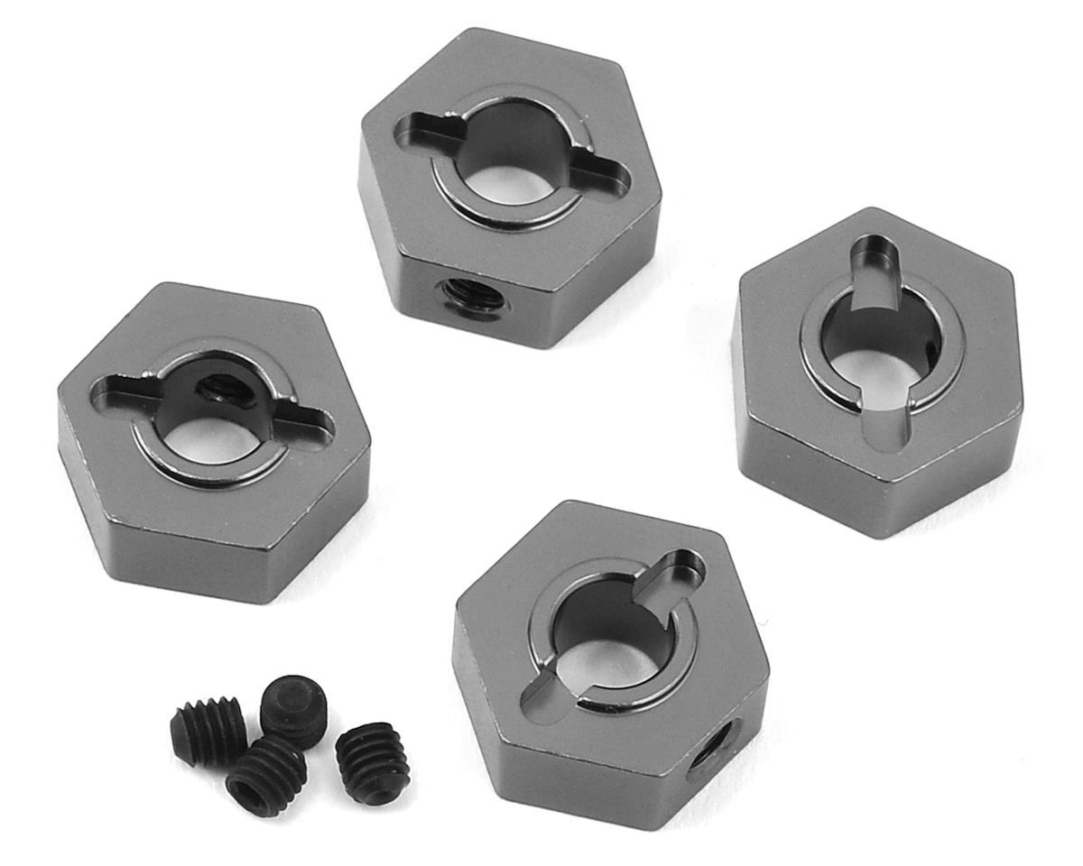 ST Racing Concepts Traxxas 4Tec 2.0 Aluminum Hex Adapters (4) (Gun Metal)