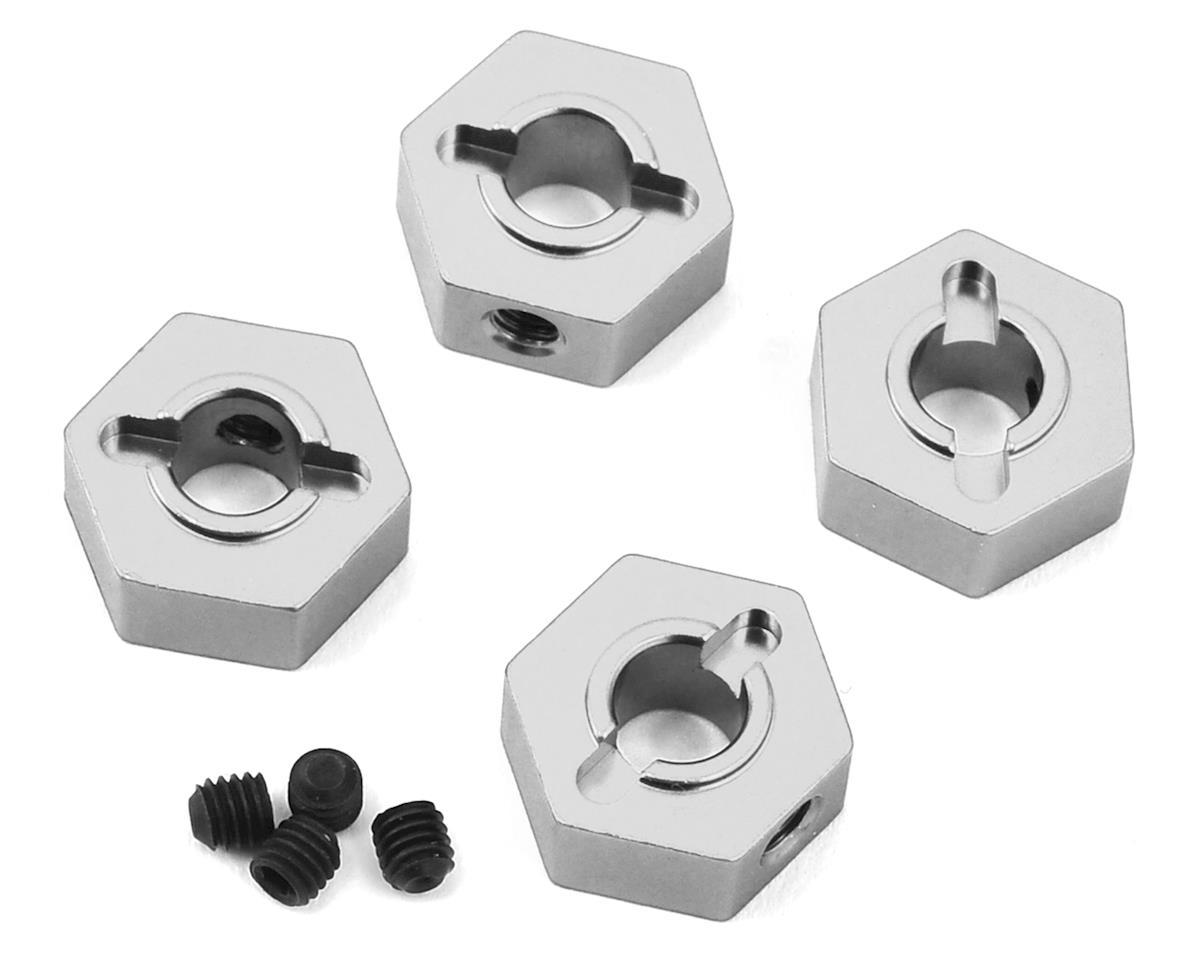 ST Racing Concepts Traxxas 4Tec 2.0 Aluminum Hex Adapters (4) (Silver)