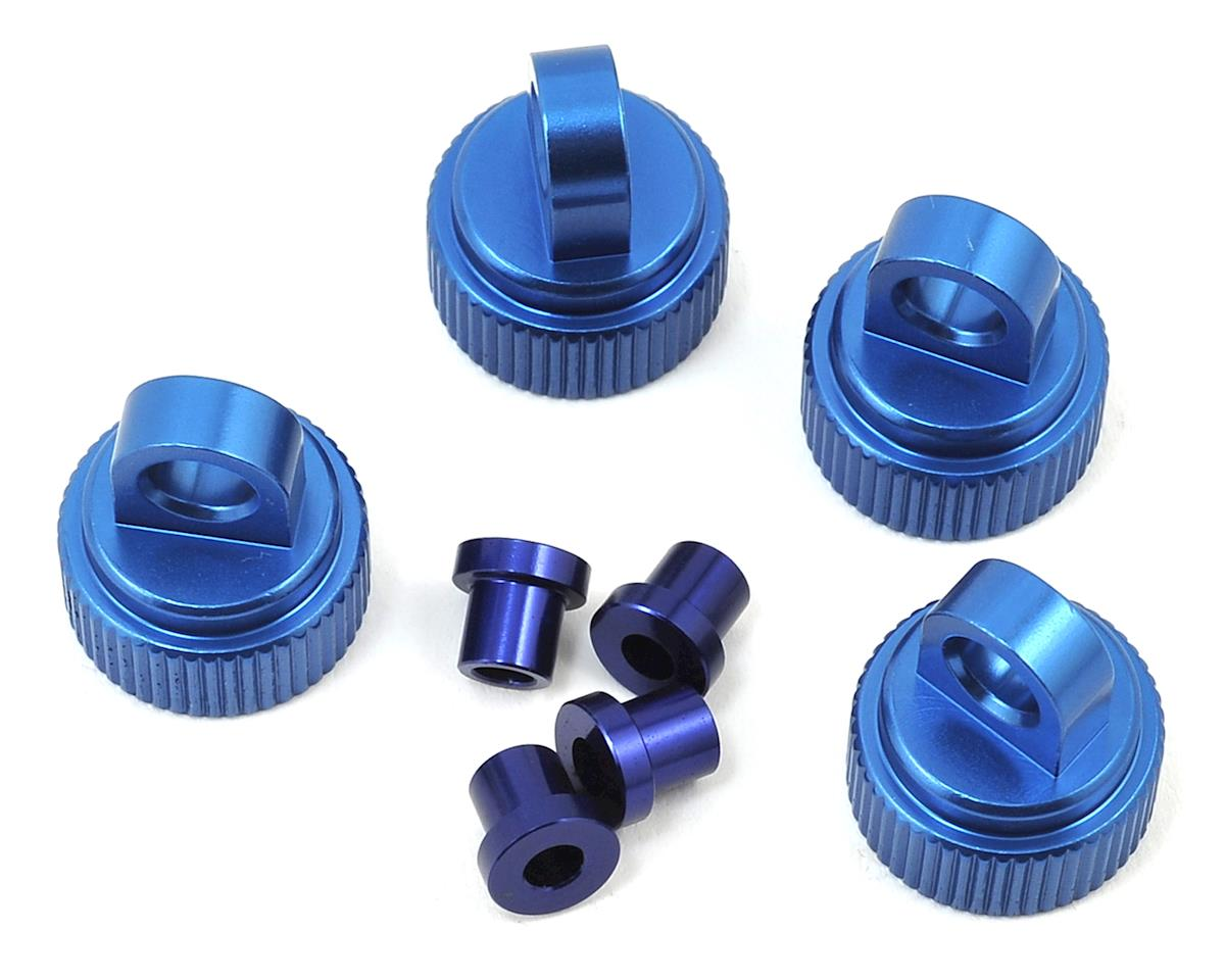 Traxxas 4Tec 2.0 Aluminum Shock Caps (4) (Blue) by ST Racing Concepts
