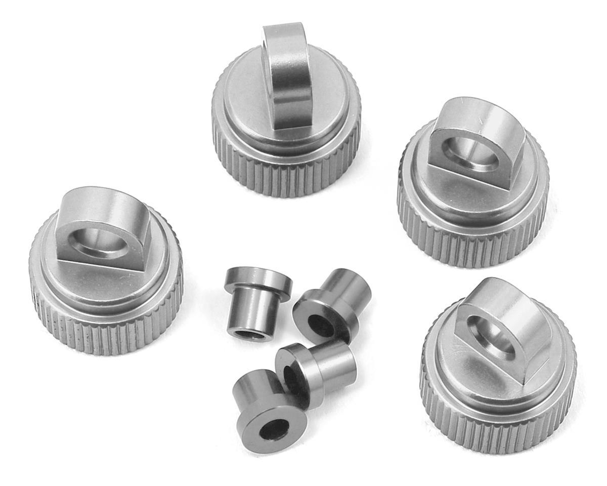 ST Racing Concepts Traxxas 4Tec 2.0 Aluminum Shock Caps (4) (Silver)