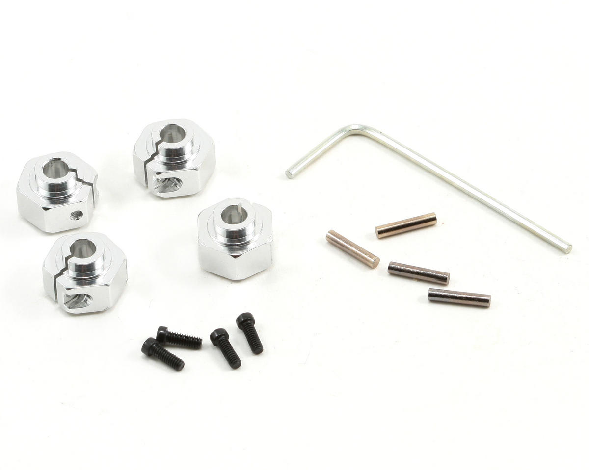 ST Racing Concepts 12mm Machined Aluminum Hex Adapter Set (Silver)