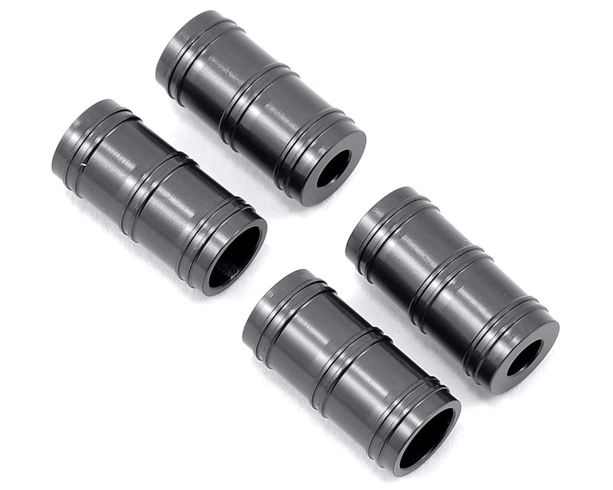 ST Racing Concepts SCX10 Aluminum Faux Shock Reservoir (4) (Gun Metal)
