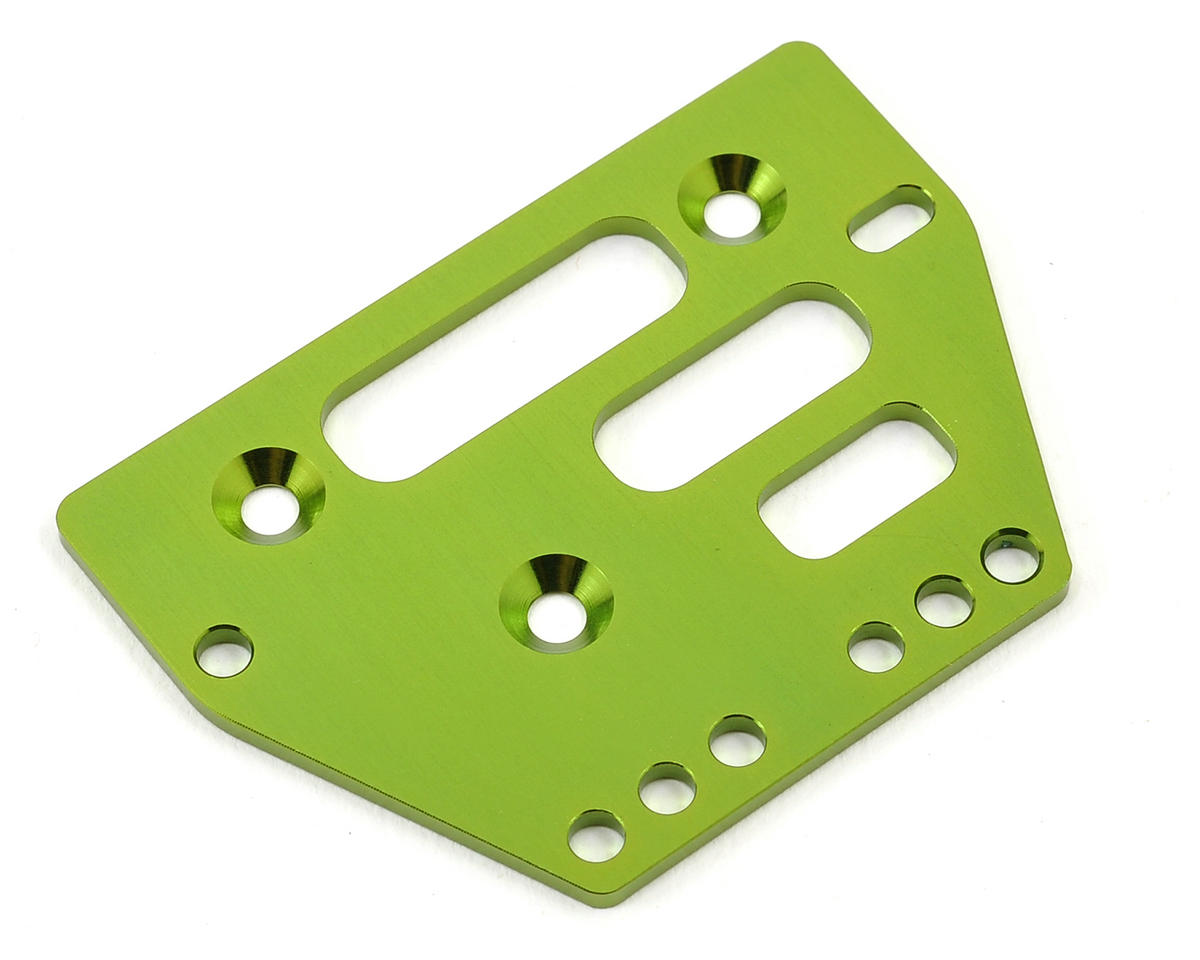 Aluminum Front/Rear Adjustable 4-Link Servo Plate (Green) by ST Racing Concepts