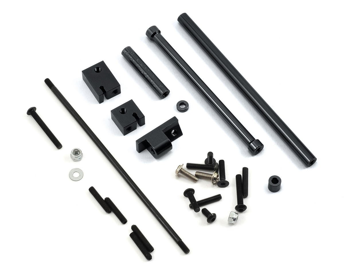 ST Racing Concepts SCX10 Aluminum Off-Axle Servo Mount/Panhard Kit (Black)