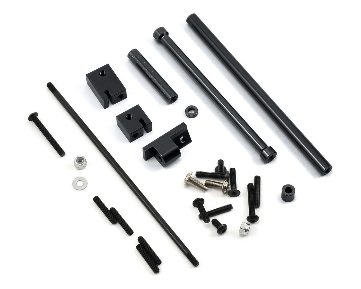 ST Racing Concepts SCX10 Aluminum Off-Axle Servo Mount/Panhard Kit (Black)