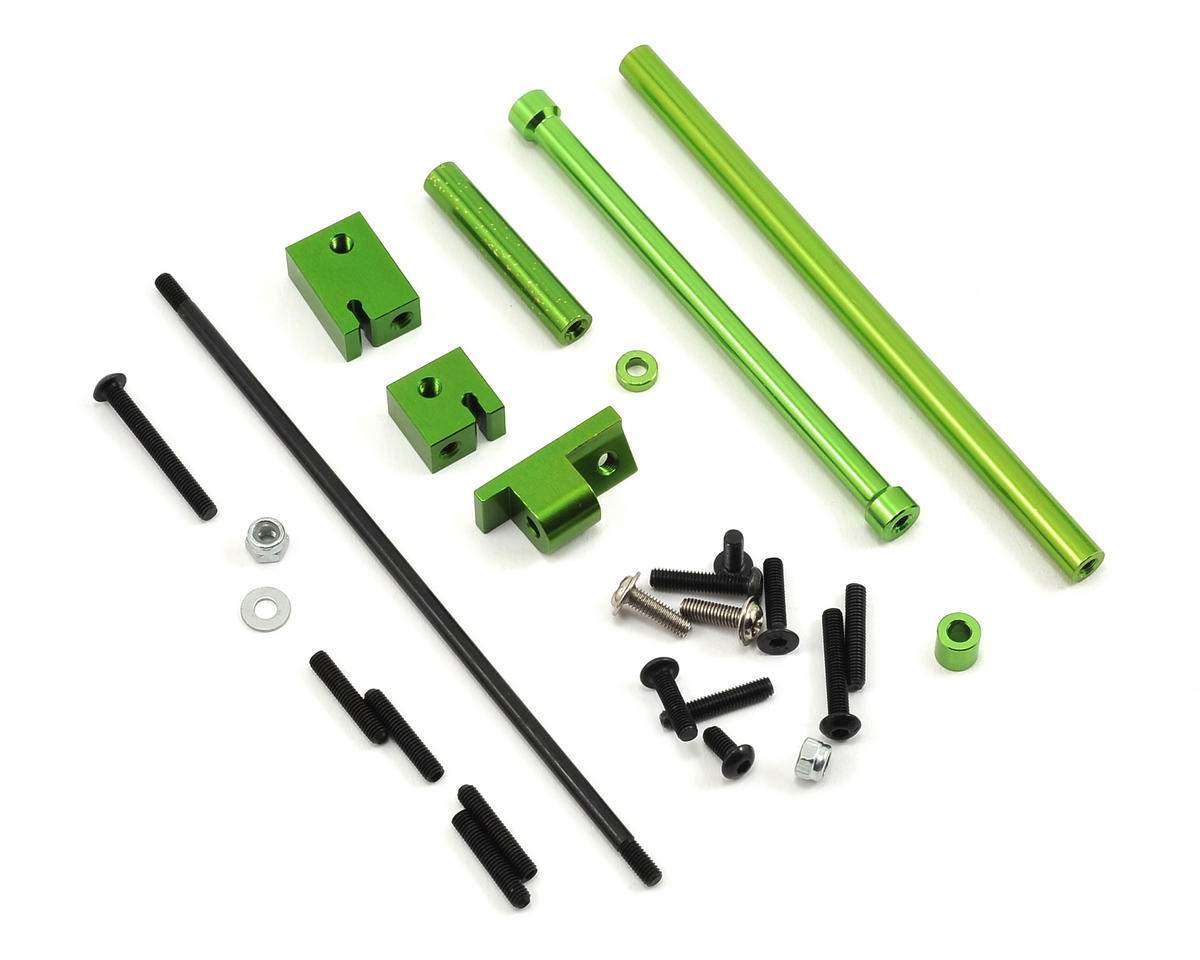 ST Racing Concepts SCX10 Aluminum Off-Axle Servo Mount/Panhard Kit (Green)