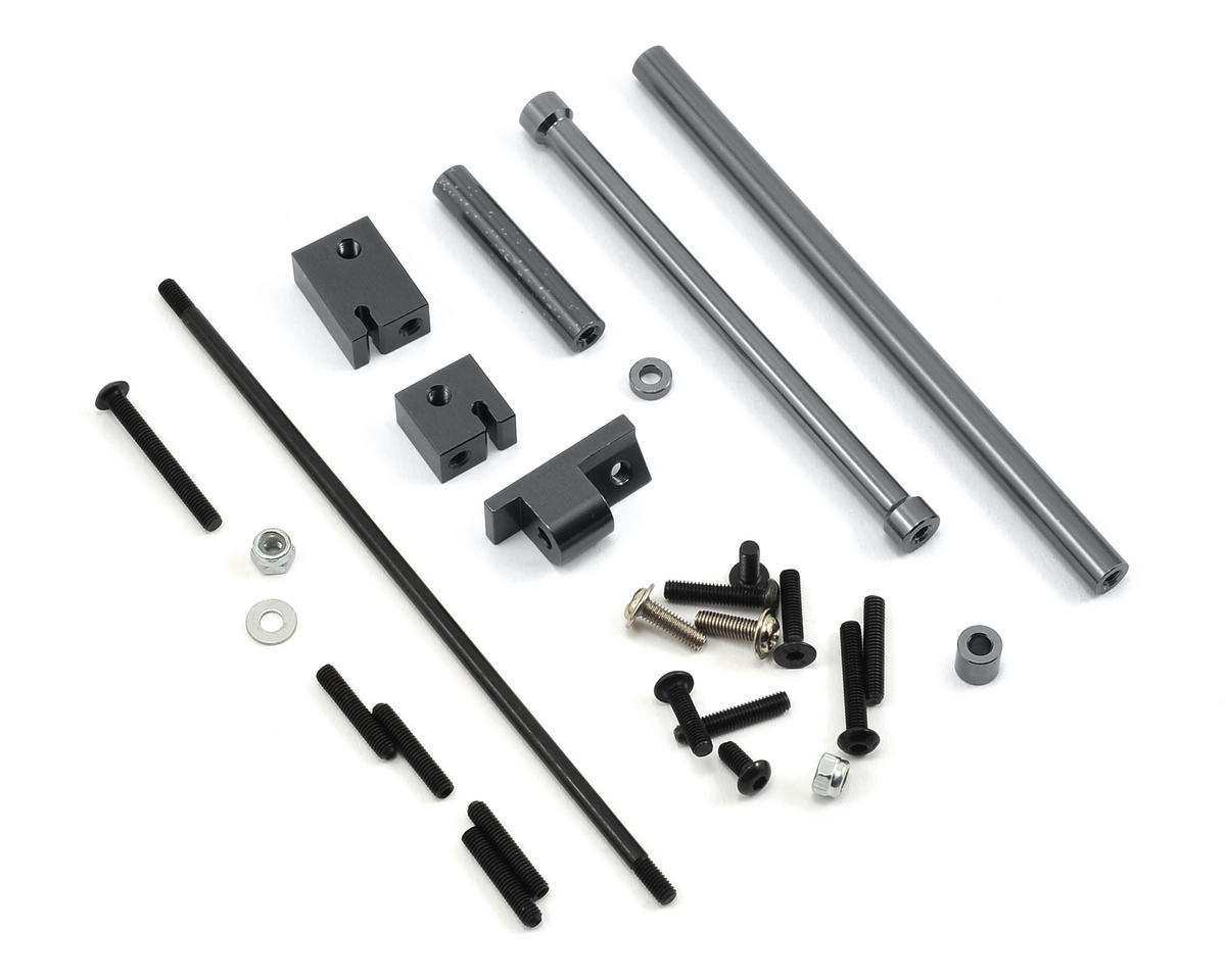 SCX10 Aluminum Off-Axle Servo Mount/Panhard Kit (Gun Metal) by ST Racing Concepts