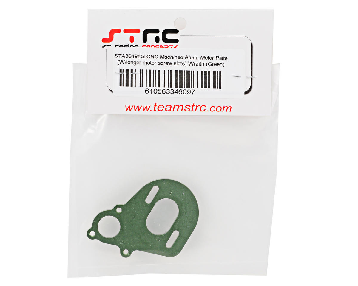 Aluminum Motor Plate (Green) by ST Racing Concepts