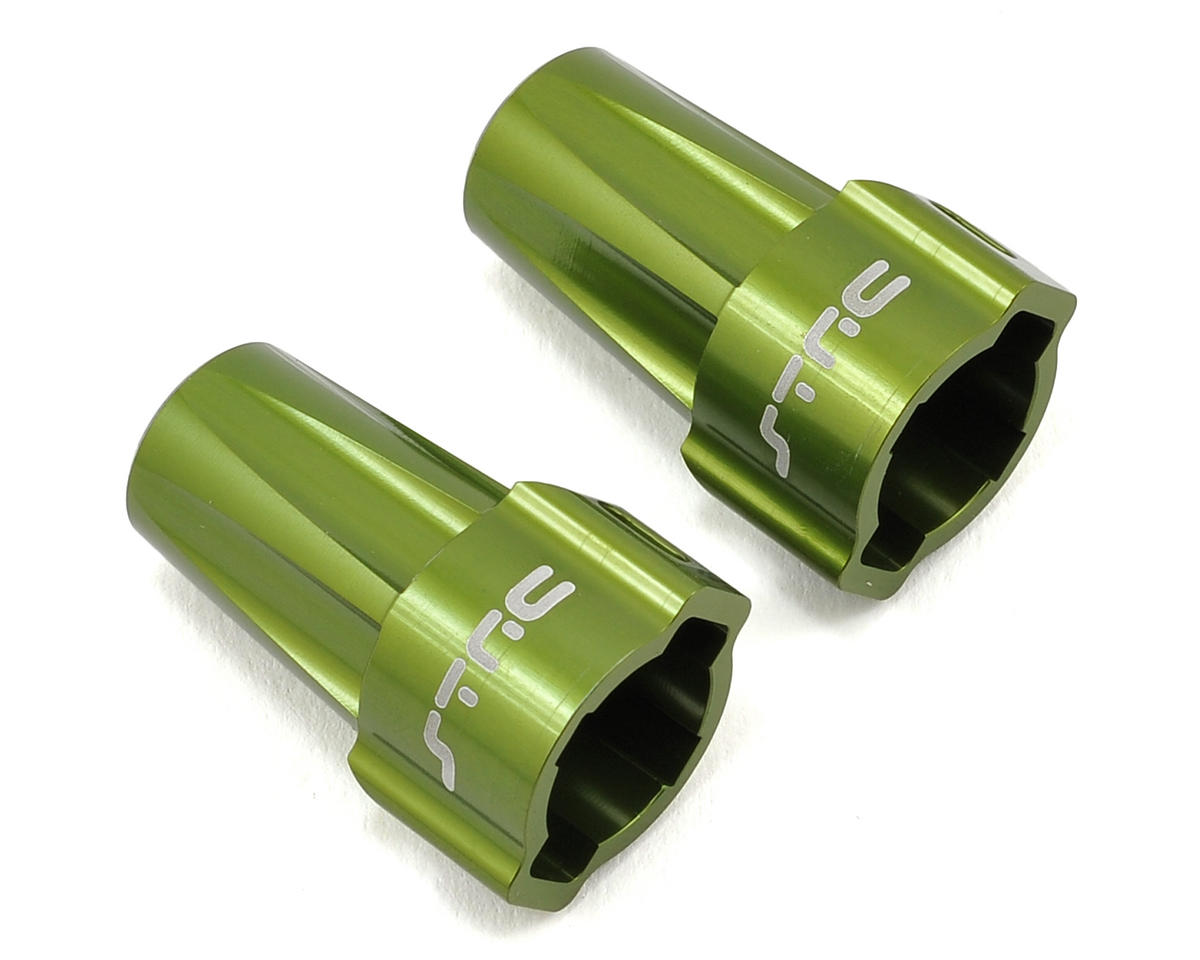 ST Racing Concepts Aluminum Axial SCX10 Rear Lockout (Green) (2)