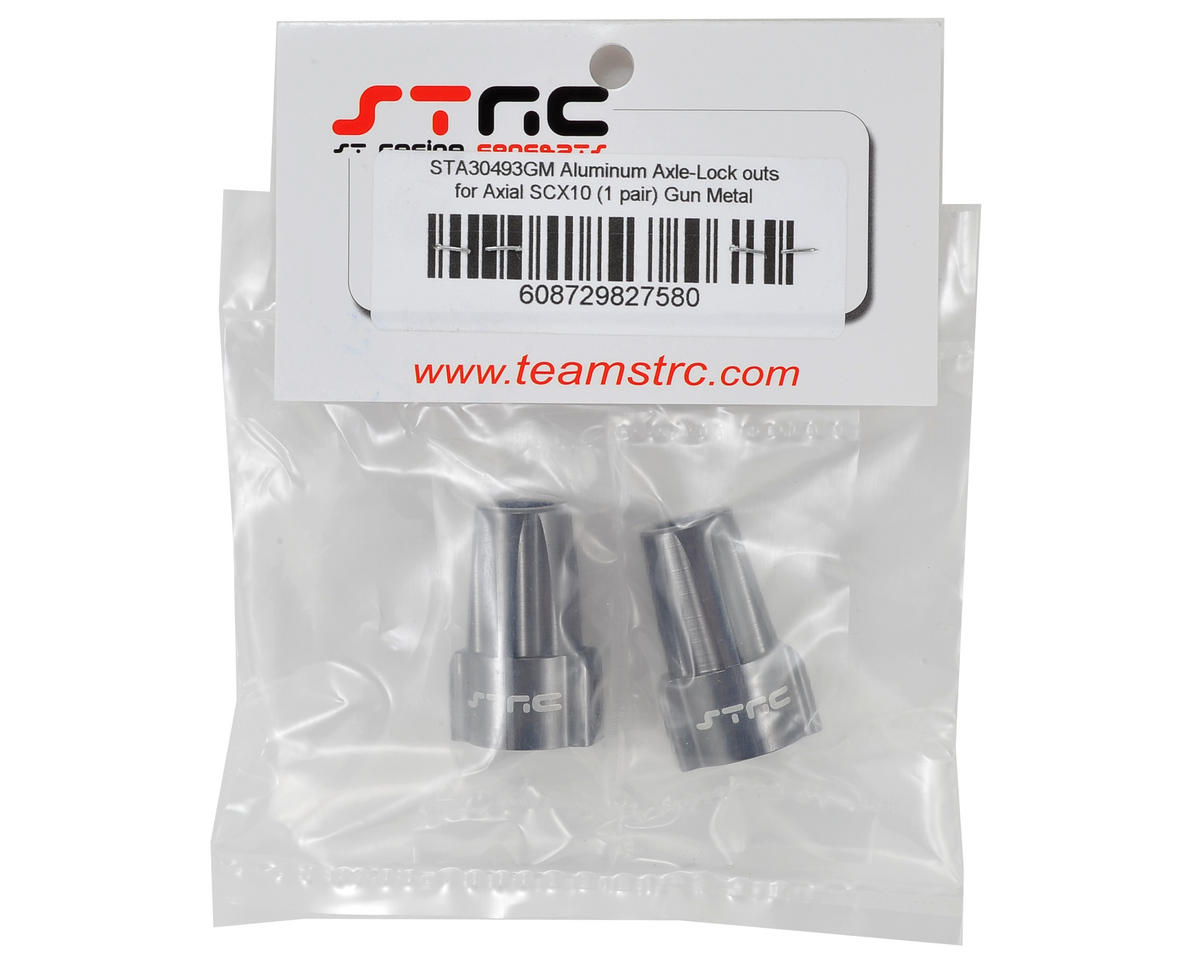 ST Racing Concepts Aluminum Axial SCX10 Rear Lockout (Gun Metal) (2)