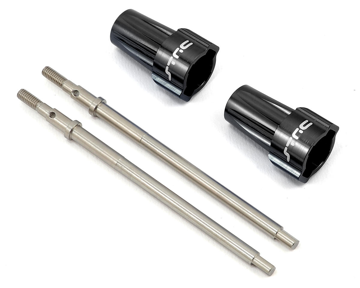 ST Racing Concepts Lockout Axle Kit w/Stainless Steel Driveshaft (Black) (2)
