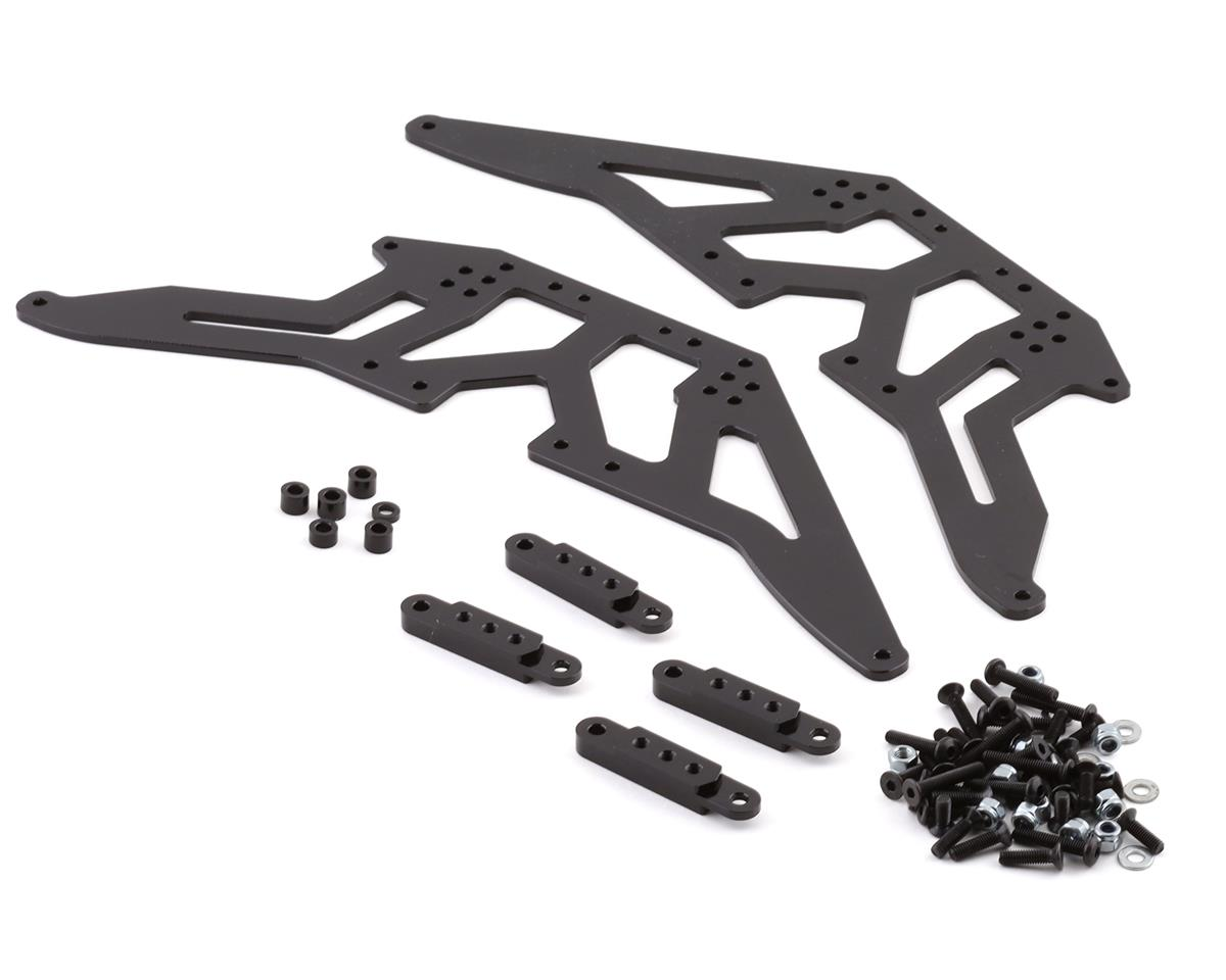 SCX10 Aluminum Chassis Lift Kit (Black) by ST Racing Concepts