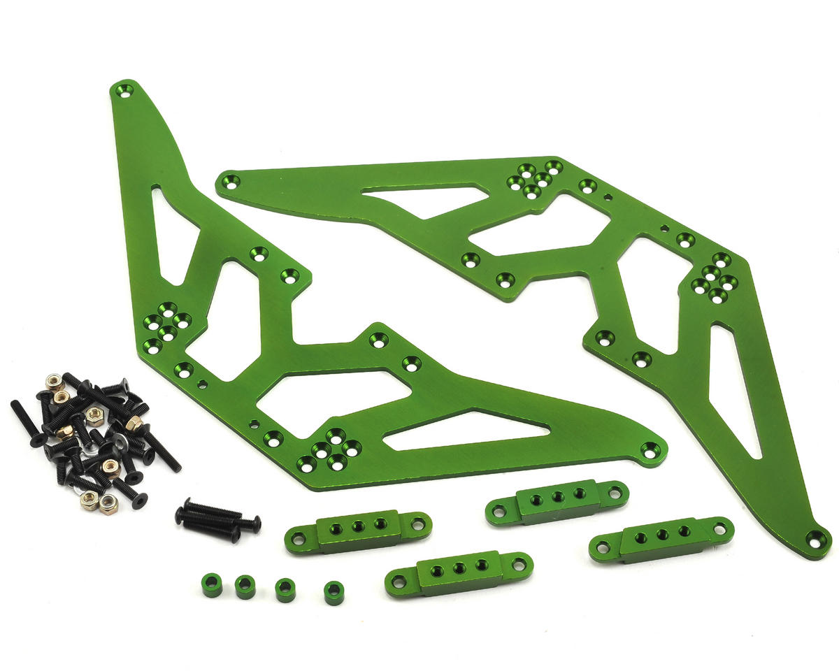 SCX10 Aluminum Chassis Lift Kit (Green)