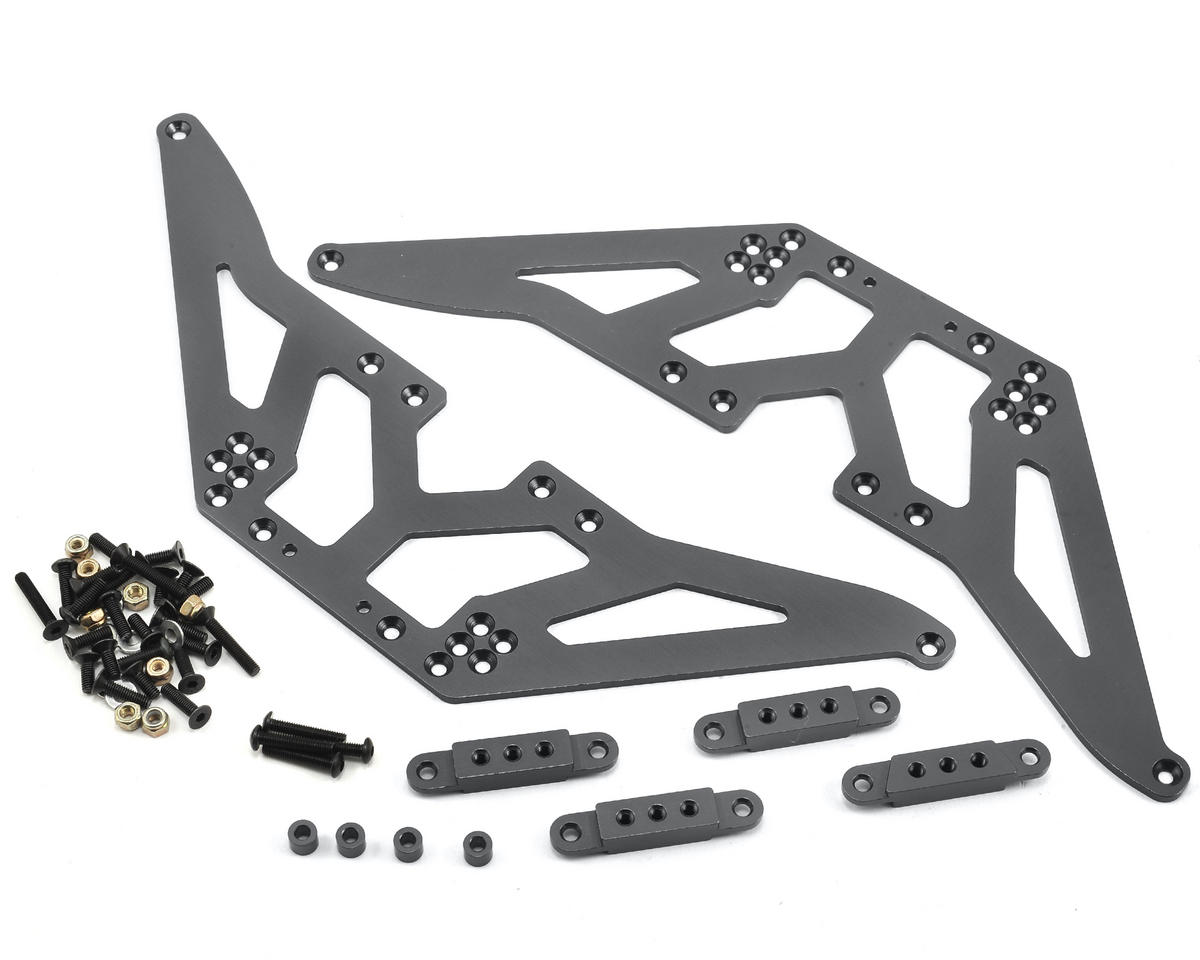 SCX10 Aluminum Chassis Lift Kit (Gun Metal) by ST Racing Concepts