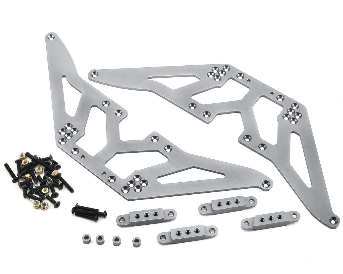 ST Racing Concepts SCX10 Aluminum Chassis Lift Kit (Silver)
